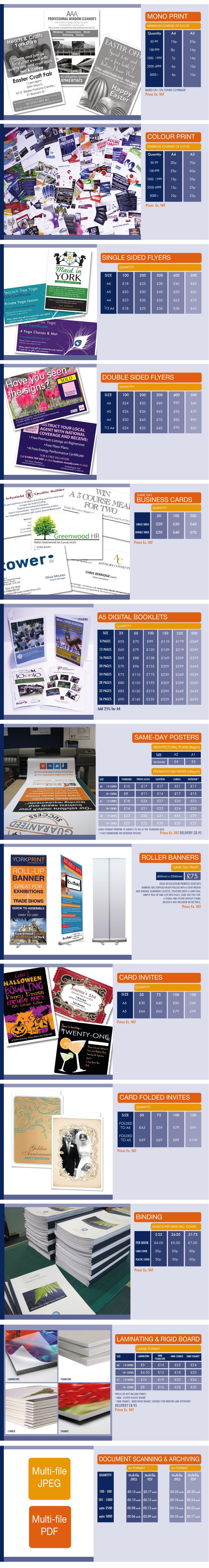 mono print prices