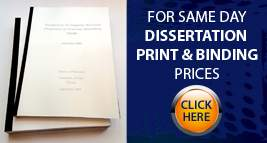 Same Day Dissertation Print & Bind
