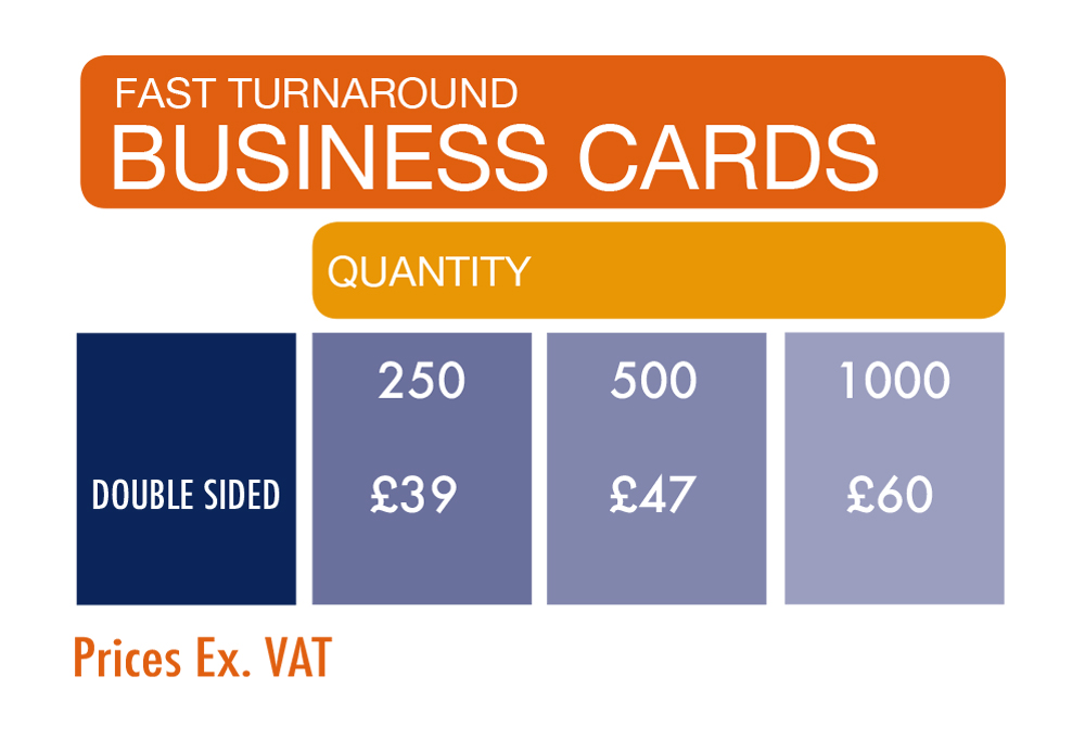 Express Business Card Printing prices