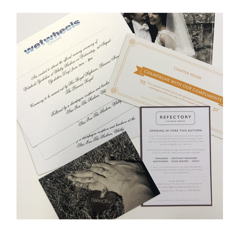 Personalised card invitations
