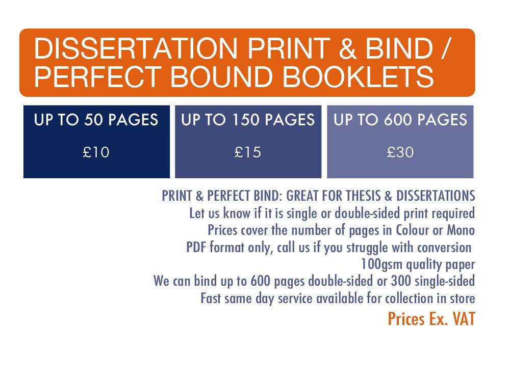 Online dissertation printing