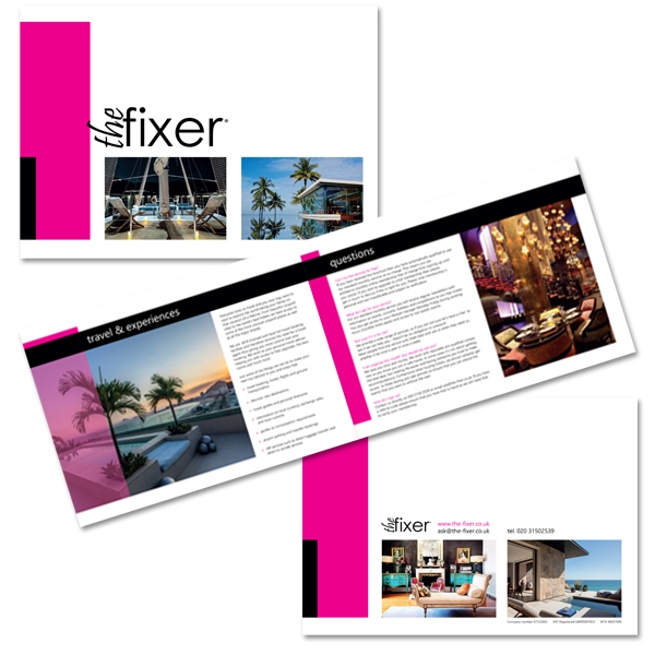 Redesigning The Fixer's brochure