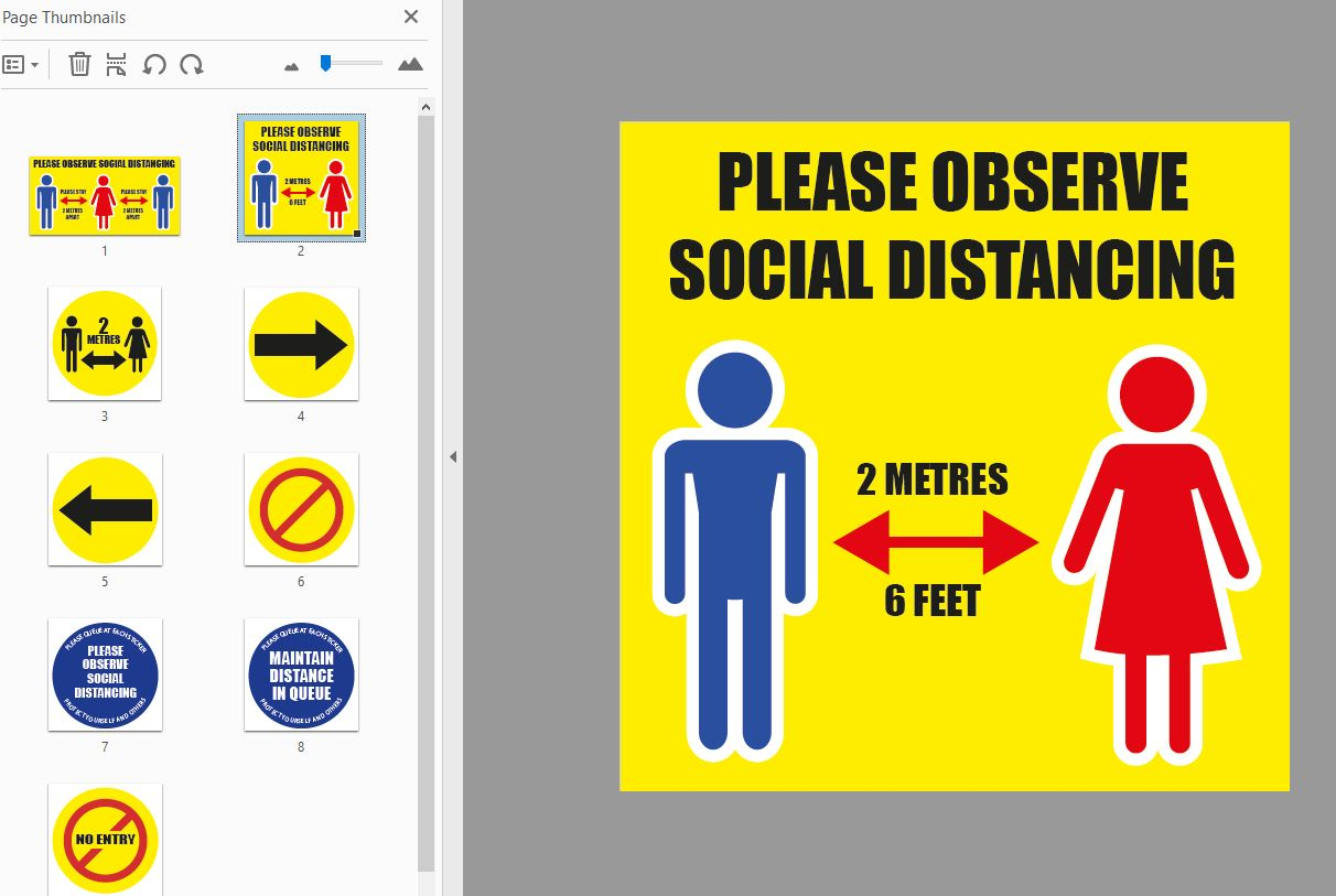 Social Distancing Sticker Pack